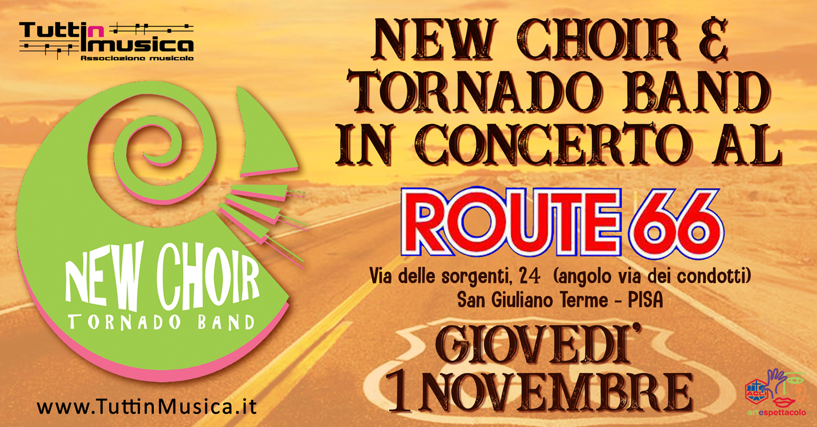 Concerto The New Choir & Tornado Band - Route 66